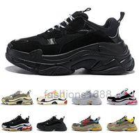 Triple S 20FW Männer Frauen Mode Schuhe Plattform Sneakers Black gezüchtet Weiß Grün Grey Herren Trainer Casual Vintage Schuh