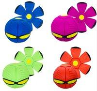 Aisme Magic Disc Infection Ball Party Party Flying UFO Самолет, бросая со светодиодными фонарями Детские открытый садовый сад пляжные игры игрушки
