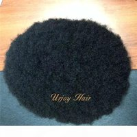 Afro Wave Toupee Men Hair Pieces 4mm 6mm 8mm Mono with PU Toupee Afro Curl Men Toupee for African American