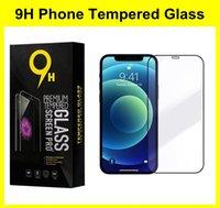 iPhone 13 12 미니 프로 최대 11 xr xs 7 6 8 플러스 5S 9h 명확한 강화 유리 필름을위한 풀 커버 전화 화면 보호기