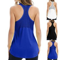Women's Tanks & Camis Women Casual Loose Style Vest Solid Color Sleeveless U-shaped Neck Tops Running Fitness Quick Dry Tank With Pads For L
