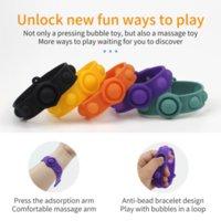 Pop Fidget Reliver Stress Jouets Stress Bracelet Poussoir POP IT Bubble Antistress Adulte Enfants Sensory Cadeau Jouet pour soulager l'autisme