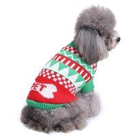 Xmas Cães Sweater Rena Do Cão Do Cão Do Natal Festa de Halloween Chegada Chegada de Malha Cachorrinho Pet Catumes Catumes Floco de Neve Outerwears HHE5836