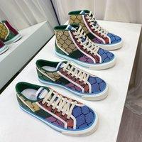 Designer Tennis 1977 Sneaker Leinwand Luxurys Schuh Beige blau gewaschen Jacquard Denim Frauen Schuhe Ass Gummi Sohle Gestickte Vintage Lässige Turnschuhe mit Box