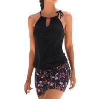 Fashion Womens Casual Sleeveless Retro Print Mini Dress Dress Vestidos Verano Beach Sundress Women Summer