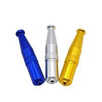 El último tubo de metal Torpedo Forma de aleación de zinc Mano de alta calidad Mini fumar Tubería de fumar portátil Portátil Diseño portátil