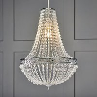 Lamp Covers & Shades Premium Crystal Chandelier Classic Moroccan Vintage Ceiling Light Shade Drop Easy Fitting Charlotte Pendant Lampshade