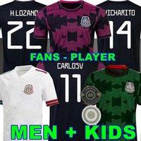 المشجعين لاعب نسخة المكسيك لكرة القدم الفانيلة camisetas 2022 تشيتشاريتو لوزانو دوس سانتوس مورينو ألفاريز راؤول 2021 كرة القدم قميص الرجال الاطفال عدة المرأة 21 22