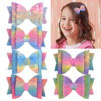 YLSP Fashion Cute Bow Hair Clips Baby Girls Kids Colorful Hairclips Hairpins Barrettes Children Headwear Accessories