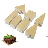 Delidge Golden Mousse Bolo Placas quadrado Retângulo de Natal Árvore de Natal Papel Cupcake Base Pads Bolo Decoração Ferramenta DHE7853