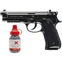 Umarex B Eretta Полностью лицензирован 92A1 CO2 Полный металл полу / полный автоматический продувочный Airgun Black W / бесплатно 1500 .177 BB оружия металлическая настенная плита BB