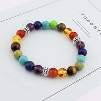 Jewelry Other Bracelets Colorful hand strung energy volcanic stone tiger eye Buddha beads bracelet