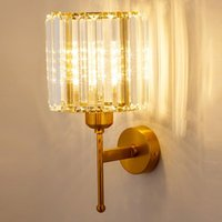 Wall Lamps SeeingDays Crystal Lamp For Living Room Bedroom Background E14 Bulb 3 Colours Lighting Home Decor