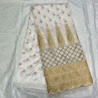 2021 Beyaz Yüksek Kalite Afrika George Dantel Kumaş Nakış Fransız Sarmalayıcıları Nijeryalı Tissu Tela Stoffe Dikiş Elbise OG5 Için