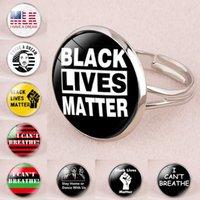 9 스타일의 흑인 생활 물질 반지 나는 숨을 쉴 수 없다.