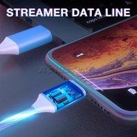 1 M Telefon Şarj Kablosu Akan Işık Kordon Samsung Android için Led Tel Mikro USB Tipi Işıklı Hızlı Şarj Yeni Yüksek Kalite