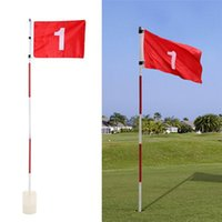 Golf Training Aids Tools Putting Green Flags Flagsticks Practice Hole Cup With Flag Pin For Sport Standard ToolsZi