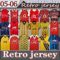 02 05 Henry Bergkamp V. Persie Mens Retro Soccer Jerseys 91 93 Vieira Merson Adams Casa Away 3rd Camicia da calcio Brevi uniformi manica lunga