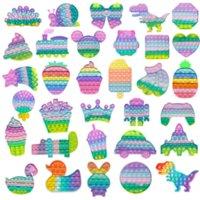 Estados Unidos Dimple Fidget Reliver Reliver Brinquedo Treiny Macaron Color Rainbow Push Bubble Antistress Brinquedos Adultos Crianças Sensory Toys