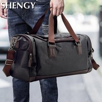 Duffel Bags Mens Travel Duffle PU Leather Waterproof Classic Sports Fitness Portable Large Capacity Multifunction Shoulder