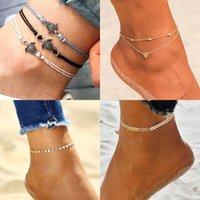 Boho Anklets for Women Sur pied Sandales pieds nus Chaussures Coeur Tortue arrow Charme Nouveau Summer Beach Bekle Bracelets Bijoux