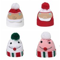 Invierno Cálido Sombrero de Navidad Santa Claus Muñeco de nieve Muñeco de nieve Gorros Gorros Niños Niños Caps de Navidad Dibujos animados Punto Esquí al aire libre Cap Cap DWA8