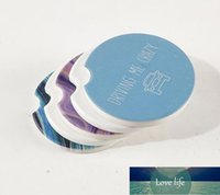Sublimation Blank Car Ceramics Coasters 6.6*6.6cm Hot Transfer Printing Coaster Blank Consumables Materials Factory dff1909 Factory price expert design Quality