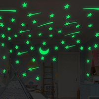 Wall Stickers 108pcs Luminous 3D Stars Sticker For Kids Room Bedroom Home Decoration Glow In The Dark Moon Decal Fluorescent DIY
