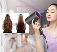 مجفف الشعر الكهربائي الأيونات السالبة ضربة عالية الطاقة 1800W 2 في 1 منفاخ ليلر صالون الرياح الباردة اختيار