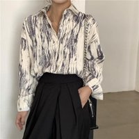 Women's Blouses & Shirts Spring Autumn Women Prined Plus Size Blouse Female Printing Loose Button Shirt Office Lady Long Sleeve Oversized To