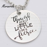 """Pendant Necklaces Arried"""" Though She Be But Little, Is FIERCE """" Copper Necklace Keychain,charm Graduation Jewelry Shakespeare Quote"""