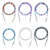 Colorful rice beads glasses chain Lanyard Necklace Eyewear Retainer Beaded Eyeglass Strap Holder mask chains for Women Girls Free DHL