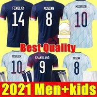 2021 İskoçya Futbol Formaları Robertson Fraser Futbol Gömlek Seti Naismith McGregor Christie Forrest McGinn Gençlik Çocuk Üniforma Erkek Çocuk Kiti Maillots