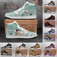 DIY Ayakkabı Anime Karikatür Tasarımcı Sneakers Erkekler Kadınlar Için 3D Desen Özel Özelleştirilmiş Basketbol Ayakkabı Hip Hop Sokak Spor Koşu Eğitmenler Sneaker Jumpman 1 1 S