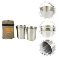 Mugs Stainless Steel Pint Cup Shatterproof Tumblers Unbreakable (Silver)
