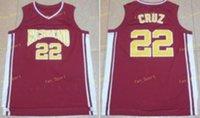 Entrenador para hombre Carter Richmond Oilers Basketball Jerseys 22 Timo Cruz Camisas rojas Camisetas universitarias Jerseys Barato Orden de mezcla