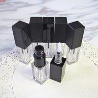 Mini 3.5 мл Пустой квадратный пластиковый глянец для губ Трубка DIY прозрачный жидкий контейнер для макияжа с черной крышкой для пробы флакона проезд 20 шт.