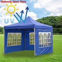 Çadırlar ve Barınaklar Dört Köşe Katlanır Açık Çadır Oxford Bez Su Geçirmez Kamp Stall Gazebo Sun Gölge Sığınağı Gölgeliksiz Üst