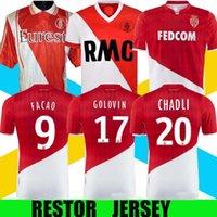 1977/1982 Versão Retro Monaco Tuybens Jersey 1999-2000 Home Dalger Vintage 96-97 Como Ben Yedder Jovetic Golovin Flocagem Jorge Football Shirt