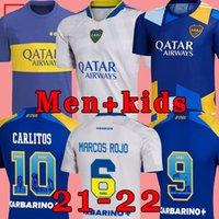 Camisa de futebol do Boca Juniors 2021 2022 CARLITOS MARADONA TEVEZ DE ROSSI 21 22 camisa de futebol esportiva masculino + infantil conjunto uniformes casa terceiro 3º .