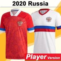 2021 Russie Team National Hommes Jeux de joueur de football Jerseys Akhmetov Miranchuk Golovin Kuzyayev Zhirkov Accueil Rouge Chemise de football blanc