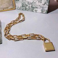2021 الفاخرة مصمم مجوهرات بيان قلادة سوار مجموعة النساء الرجال هدية عيد النحاس المفاجئة مجوهرات رجل إمرأة سحر steampunk قفل القلائد المنجد