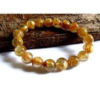 Discount Toujours authentique Titanium Naturel Titanium Or Rutile Quartz Stretch Bracelet rond perle en vrac 10mm Fit Bijoux DIY