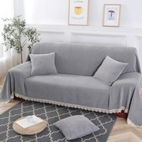 Chair Covers 2021 Quality Cover Sofa Non-Slip Armrest Backrest Towel Cushion For Sectional Chenille Lace Couch