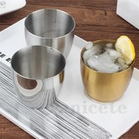 304 Edelstahl Tumbler Saft Tassen Verdickte Koreanische Einschicht Restaurant Bier Tassen Getränke Getränke Kalt Getränke Becher Wasser Cupzc183
