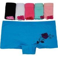 Women's Panties 12 Pcs Set Underwear Cotton Breathable Lingerie Briefs High Fit Female Boyshort Ladies Floral Pantys Underpants