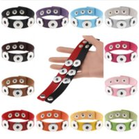 2020 New Braided Leather 18mm Snap Bracelets DIY Snap Button Bracelet Interchangeable Snap Jewelry For Women 21CM
