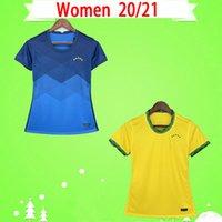 여성 축구 유니폼 2021 소녀 Camiseta de Futbol Paqueta Neres Coutinho Brazils 축구 셔츠 Liaies Firmino 예수님 Marcelo Pele Brasil 20 21 Maillot Foot