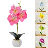 Simulation Small Butterfly Orchid Fake Flower Mini Silk For Year Home Wedding Decoration DIY Artificial Phalaenopsis Decorative Flowers & Wr