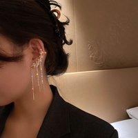 Clip auricolari dell'orecchino dell'orecchino dell'archetto dell'arco dell'argento dell'arco dell'oop con nappa diamante